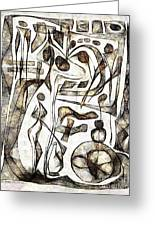 Abstraction 2217 Greeting Card