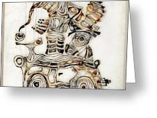 Abstraction 2810 Greeting Card