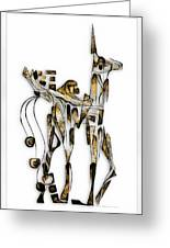 Abstraction 3092 Greeting Card