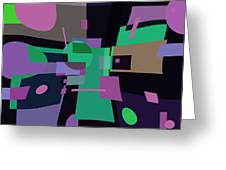 Abstraction In Bent Squares Greeting Card