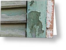 Abstraction In Peeling Paint Close-up Greeting Card
