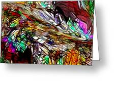 Abstracto En Dimension Greeting Card