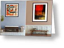 Abstracts By Edward M. Fielding Greeting Card