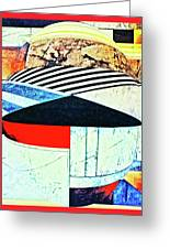Abstracts On Red Greeting Card