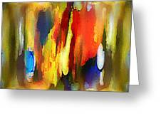 Abstraktes In Farbe Greeting Card