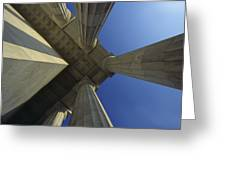 Abstrat View Of Columns At Lincoln Greeting Card