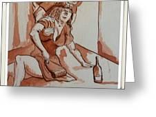 Drunken Wife Greeting Card