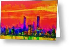 Abu Dhabi Skyline - Da Greeting Card