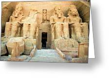 Abu Simbel 2 Greeting Card