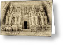 Abu Simbel Antiqued Greeting Card