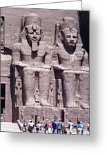 Abu Simbel In Egypt Greeting Card