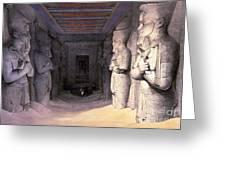 Abu Simbel Temple, 1838 Greeting Card
