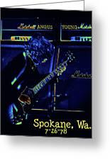 Ac Dc Electrifies The Blues In Spokane Greeting Card