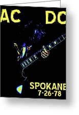 Ac Dc Rocks 2 Greeting Card