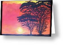 Acacias At Masai Mara Greeting Card