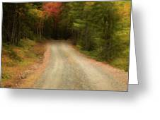 Acadia Backroads Greeting Card