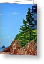 Acadia Lighthouse Greeting Card