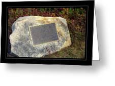 Acadia National Park Centennial Plaque Greeting Card