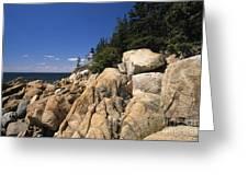 Acadia National Park Maine - Bass Harbor Head Lighthouse Greeting Card
