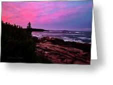 Acadia National Park Sunset Greeting Card