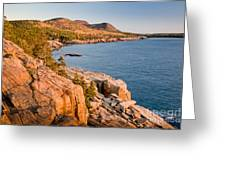 Acadian Cliffs In Autumn 1 Greeting Card by Susan Cole Kelly