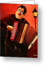 Accordeon Greeting Card