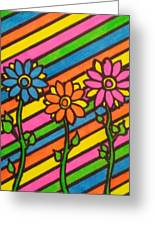 Aceo Abstract Flowers Greeting Card