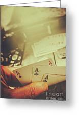 Aces Up The Sleeve Greeting Card