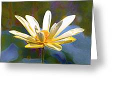 Achievement Of Enlightenment The Golden Lotus Greeting Card