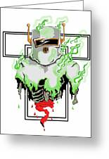 Acid Burn Greeting Card