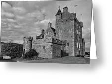 Ackergill Tower 1119 Bw Greeting Card