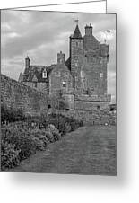 Ackergill Tower 1173 Bw  Greeting Card