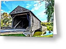 Ackley Covered Bridge Greeting Card