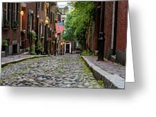 Acorn St. Boston Ma. Greeting Card