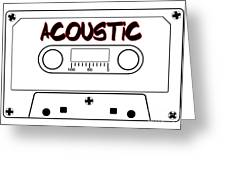 Acoustic Music Tape Cassette Greeting Card