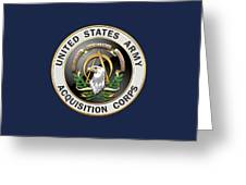 Acquisition Corps - A A C Branch Insignia Over Blue Velvet Greeting Card