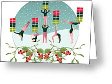Acrobatic Parcel Delivery Greeting Card
