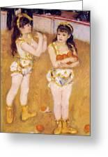 Acrobats At The Cirque Fernando Francisca And Angelina Wartenberg 1879 Greeting Card