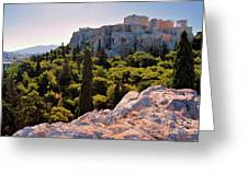 Acropolis In The Morning Light Greeting Card
