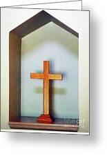 Across A Cross Greeting Card