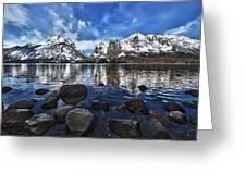 Across Jenny Lake Greeting Card