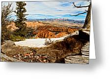 Across The Canyon Greeting Card