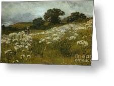 Across The Fields Greeting Card by John Mallord Bromley