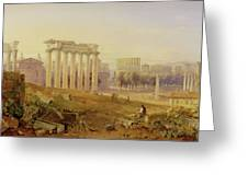 Across The Forum - Rome Greeting Card