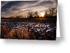 Across The Frozen Fields  Greeting Card