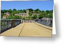 Across The Iron Bridge Greeting Card