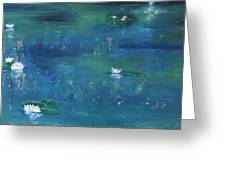Across The Lily Pond Greeting Card