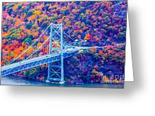 Across The Other Side Of Bear Mountain Bridge Greeting Card