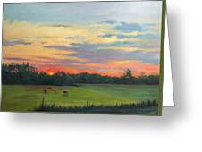 Across The Pasture Greeting Card