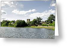 Across The Pool At Melbourne Hall Greeting Card by Rod Johnson